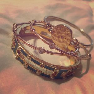 Bundle of bracelets/bangles from: J. crew and BR